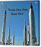 Post Card Of The Kennedy Space Centre Florida Acrylic Print