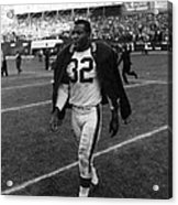 Jim Brown Acrylic Print by Retro Images Archive