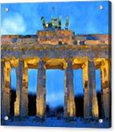 Post-it Art Berlin Brandenburg Gate Acrylic Print