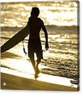 Post Surf Gold Acrylic Print