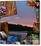 Postcard Autumn Memories Acrylic Print