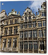 Postcard From Brussels - Grand Place Elegant Facades Acrylic Print