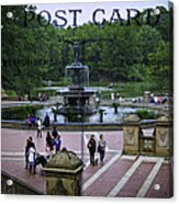 Postcard From Central Park Acrylic Print