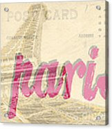 Postcard From Paris Acrylic Print