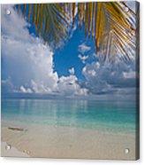 Postcard Perfection. Maldives Acrylic Print