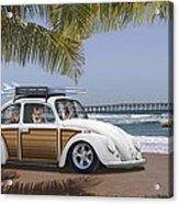 Postcards From Otis - Beach Corgis Acrylic Print