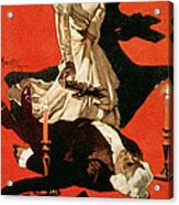 Poster Advertising A Performance Of Tosca Acrylic Print