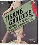 Poster Advertising Tisane Gauloise Acrylic Print
