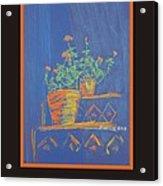 Poster - Blue Geranium Acrylic Print by Marcia Meade