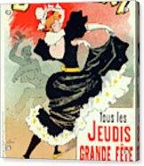 Poster For Le Bal Bullier. Meunier, Georges 1869-1942 Acrylic Print