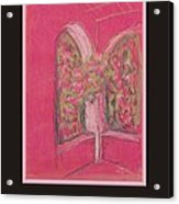 Poster - Light Pink Patio Acrylic Print by Marcia Meade