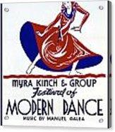 Poster Modern Dance Festival Acrylic Print