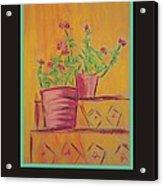 Poster - Orange Geranium Acrylic Print by Marcia Meade