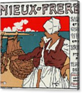 Poster Sardines, 1899 Acrylic Print