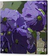 Posterised Flowers Acrylic Print