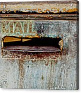 Postman Hasn't Been Here Lately Acrylic Print