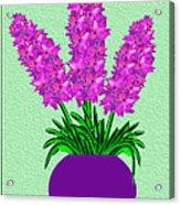 Pot Of Pink Flowers Acrylic Print