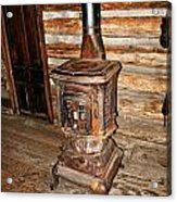 Potbelly Stove Acrylic Print by Marty Koch