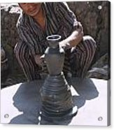 Potter At Work In Bhaktapur Acrylic Print