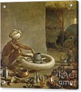 Potter In India, 1790s Acrylic Print