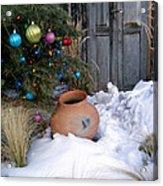 Pottery In Snow At Xmas Acrylic Print