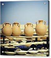 Pottery Market Acrylic Print