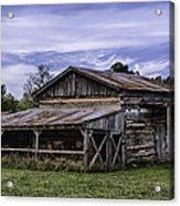 Pottsville Arkansas Historic Log Barn Acrylic Print
