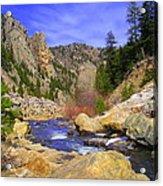 Poudre Canyon Acrylic Print