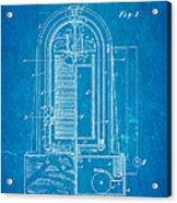 Poulsen Magnetic Tape Recorder Patent Art 1900 Blueprint Acrylic Print