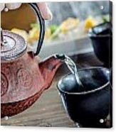 Pouring Japanese Tea Acrylic Print