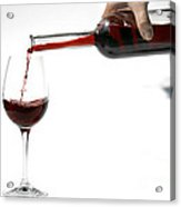 Pouring Red Wine Into Glass Acrylic Print
