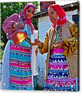 Pouring Wine For Guests In Demircidere Koyu In Kozak-turkey Acrylic Print