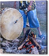 Pow Wow 58 Tuning The Drum Acrylic Print
