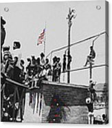 Pow Wow Days July 4th Rodeo Navajos Flagstaff Arizona 1969-2009  Acrylic Print