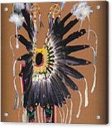 Pow Wow Regalia - Orange Acrylic Print