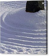 Powder In Zen One Acrylic Print by Feile Case