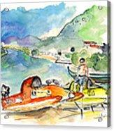 Power Boats World Championship In Barca De Alva 04 Acrylic Print