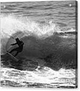 Power Carve Surfer Photo Acrylic Print by Paul Topp