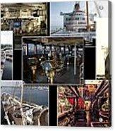 Power Collage Queen Mary Ocean Liner Long Beach Ca 01 Acrylic Print
