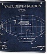 Power Driven Balloon Patent Acrylic Print