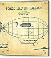 Power Driven Balloon Patent-vintage Acrylic Print