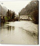 Power Plant On River Acrylic Print
