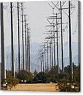 Power Poles  Acrylic Print
