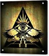 Power Pyramid Acrylic Print by Milton Thompson
