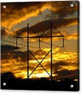 Power Switch Acrylic Print by Ella Char