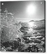 Powerful Wave At Dawn Acrylic Print