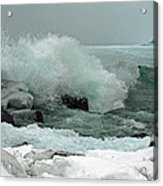 Powerful Winter Surf Acrylic Print