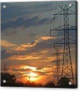 Powerline Sunset Acrylic Print
