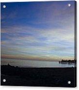 pr 243- Sunset Over Capitola Pier Acrylic Print