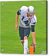 Practice At The Goal Line Acrylic Print